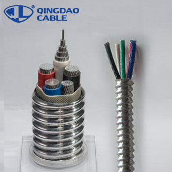 MC cable electrical wire stranded types of armored cable Copper/Aluminum conductors THHN/XLPE insulation Al armored