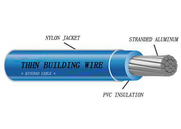 Type THHN/THWN-2/T90 aluminum conductor heat/sunlight/moisture resistant PVC Insulation and Nylon jacket