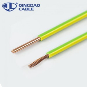 PVC insulated earthing copper cable bv electric wire